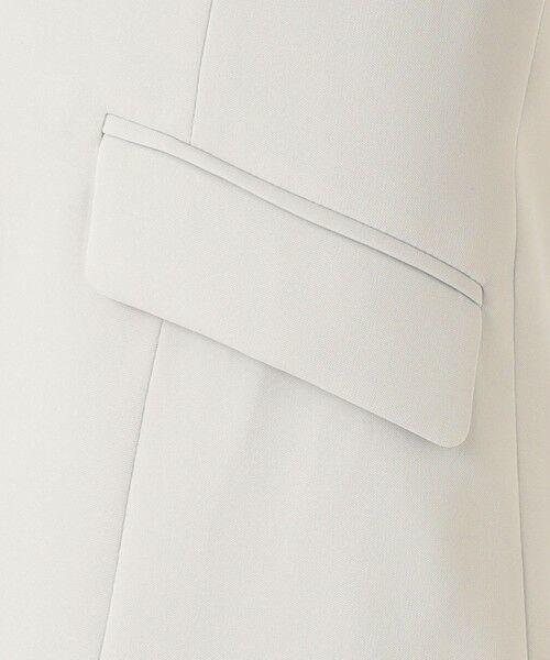 L size ONWARD(大きいサイズ) / エルサイズオンワード ノーカラージャケット | 【UV/抗菌防臭/防シワ】コンパクト2wayダブルクロス カラーレスジャケット | 詳細13