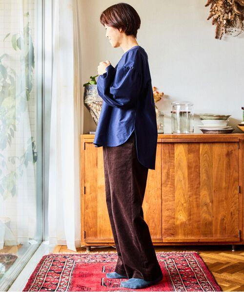 LOURMARIN / ルールマラン カットソー | 【料理家ワタナベマキさん×LOURMARINのコラボレーション企画 コットンカルゼギャザースリーブプルオーバー】 | 詳細6