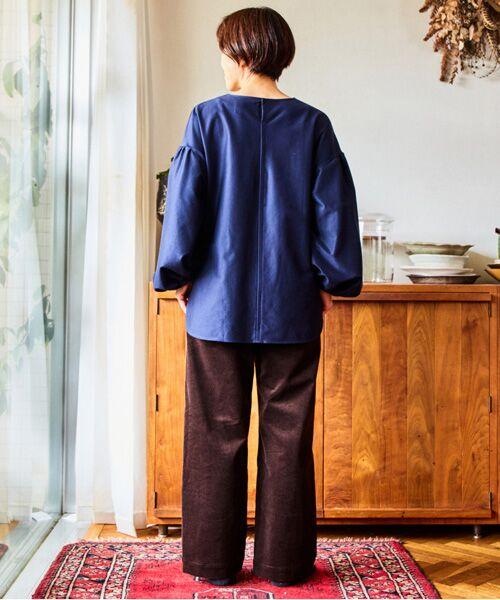 LOURMARIN / ルールマラン カットソー | 【料理家ワタナベマキさん×LOURMARINのコラボレーション企画 コットンカルゼギャザースリーブプルオーバー】 | 詳細8
