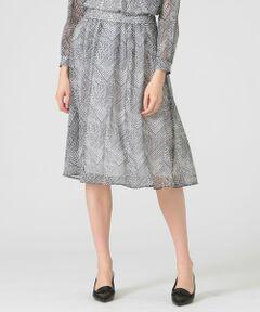 【ウォッシャブル】<br /><br /><デザインポイント><br />太めのウエストヨークに両脇のタックがバランスの良いスカートです。<br />太めのヨークはウエスト周りをすっきり見せてくれます。<br /><br /><素材説明><br />イタリアRATTI社の素材を使用しています。<br />シルクのように皴になりにくくソフトな風合いと落ち感がある手洗い可能なポリエステルジョーゼットです。<br /><br />※水洗い可<br /><br />モデル(下部ディテール画像):H173 B81 W58 H86 着用サイズ:38