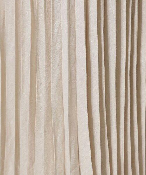 MACKINTOSH LONDON / マッキントッシュ ロンドン  ロング・マキシ丈スカート | フレンチ麻プリーツスカート | 詳細10