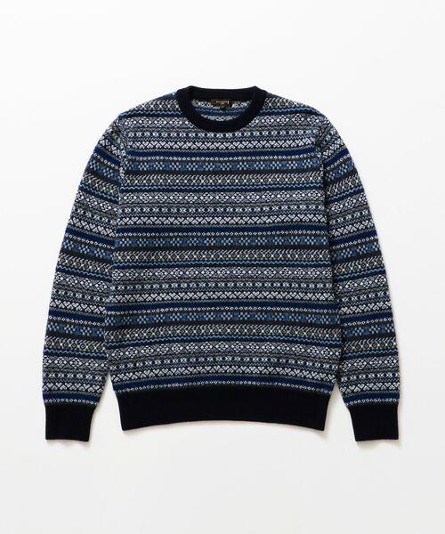 MACKINTOSH LONDON (MENS) / マッキントッシュ ロンドン  メンズ ニット・セーター | 12ゲージ フェアアイルジャガード クルーネック | 詳細1