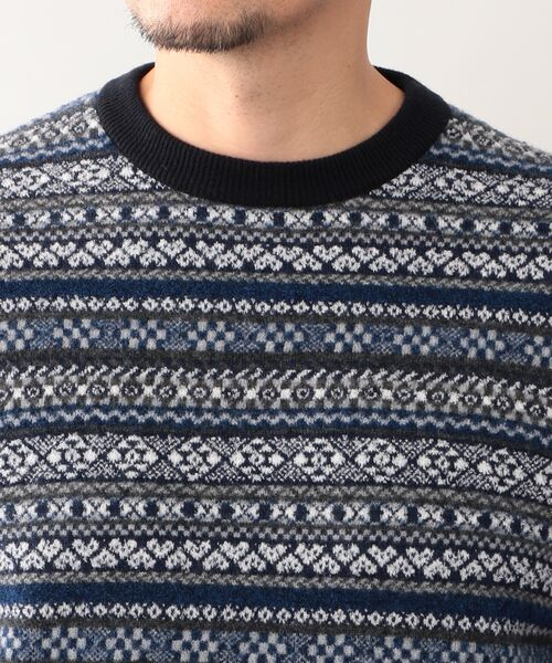 MACKINTOSH LONDON (MENS) / マッキントッシュ ロンドン  メンズ ニット・セーター | 12ゲージ フェアアイルジャガード クルーネック | 詳細6