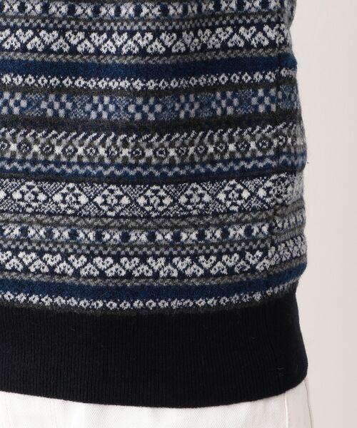 MACKINTOSH LONDON (MENS) / マッキントッシュ ロンドン  メンズ ニット・セーター | 12ゲージ フェアアイルジャガード クルーネック | 詳細8