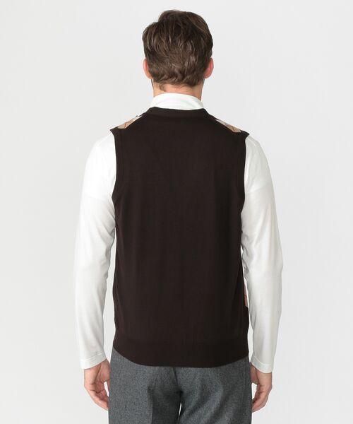 MACKINTOSH LONDON(MENS) / マッキントッシュ ロンドン  メンズ ニット・セーター | 14GGフロント釦ニットベスト | 詳細3