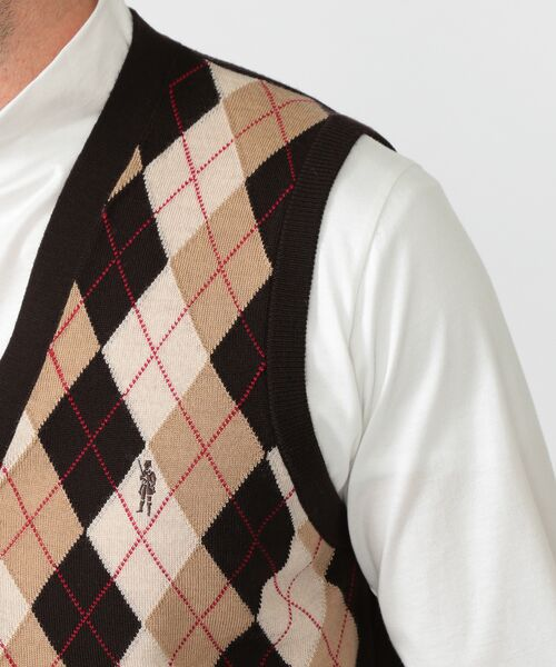 MACKINTOSH LONDON(MENS) / マッキントッシュ ロンドン  メンズ ニット・セーター | 14GGフロント釦ニットベスト | 詳細5