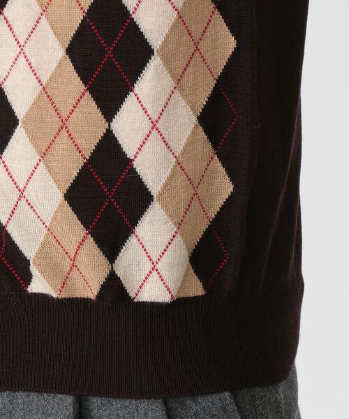 MACKINTOSH LONDON(MENS) / マッキントッシュ ロンドン  メンズ ニット・セーター | 14GGフロント釦ニットベスト | 詳細6
