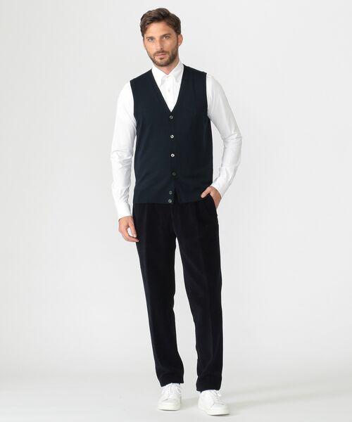 MACKINTOSH LONDON(MENS) / マッキントッシュ ロンドン  メンズ ニット・セーター | 14GGフロント釦ニットベスト | 詳細11