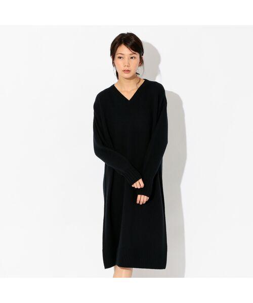 ホールガーメント ニットドレス