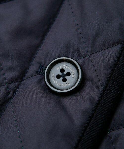 MACKINTOSH PHILOSOPHY / マッキントッシュ フィロソフィー ノーカラージャケット | <COWIE>ポランプロテクトキルティングジャケット | 詳細16