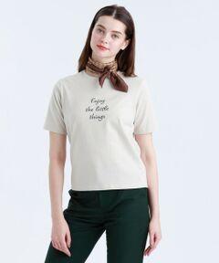 <コーディネートに抜け感をプラスするTシャツ><br /><br />ややゆとりを持たせたシルエットのメッセージTシャツです。コロナ禍の今だからこそのポジティブなメッセージにこだわりプリントしました。<br><br>【素材】<br>オールシーズン着られる肉感と優しい肌触りを追求したTシャツに最適な綿素材を使用しています。程よいカジュアル感と、着心地の良さが持ち味です。<br>※家庭洗濯可能です。<br><br>※この商品はサンプルでの撮影を行っています。<br>実際の商品とイメージ、サイズ、品質表示、原産国等が異なる場合がございます。<br /><br /><br><br>モデル:173cm B:80cm W:60cm H:89cm 着用サイズ:38サイズ