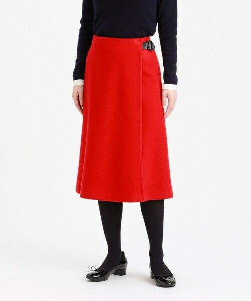 MACKINTOSH PHILOSOPHY / マッキントッシュ フィロソフィー ロング・マキシ丈スカート | ウールラップスカート(レッド3)