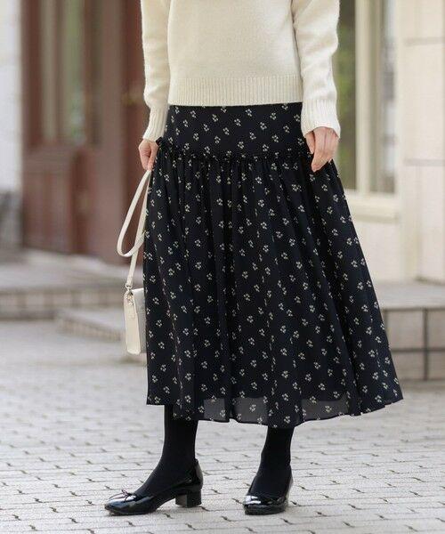 MACKINTOSH PHILOSOPHY / マッキントッシュ フィロソフィー ロング・マキシ丈スカート   スノードロップスカート(ネイビー3)