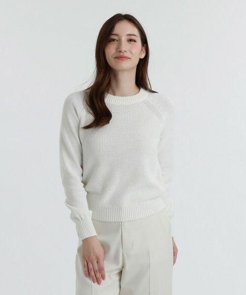 MACKINTOSH PHILOSOPHY / マッキントッシュ フィロソフィー ニット・セーター | バックファスナーニット(オフホワイト1)
