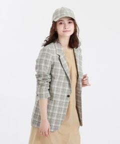 GREY LABEL ブリティッシュタータンテーラードジャケット<br /><br />柔らかいカラーと繊細な線で表現したオリジナル柄のリネン混のチェックジャケット。マニッシュなムードは残しつつ、コンパクトな肩と長めの丈で女性らしく、またコンフォータブルに着こなせるバランスにです。袖まくりしやすい本切羽仕様です。<br /><br />表地は麻のナチュラル表情とドライタッチを加えたリネンウールファブリックを使用。ポリエステル糸ブレンドによりジャケットのシルエットがきれいに出るハリ感を加えています。<br /><br />マッキントッシュ フィロソフィーのグレーラベルは、男女でシェアできるユニセックスのアウターウェアや、同じ柄を使った男女それぞれのアイテムなど、ユニセックスなムードの軽やかなコレクションです。<br><br>※この商品はサンプルでの撮影を行っています。<br>実際の商品とイメージ、サイズ、品質表示、原産国等が異なる場合がございます。<br /><br /><br><br>モデル:172cm B:72cm W:58cm H:86cm 着用サイズ:2サイズ