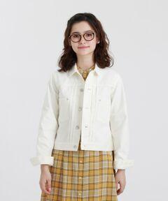 GREY LABEL デニムジャケット<br /><br />すっきりとしたフロントデザインが特徴のデニムジャケット。バストから裾までストンと落ちるボックスシルエットです。アームホールは適度にゆとりのある、レイヤードしやすいサイズ感です。<br /><br />素材は、80年代デニムを忠実に再現した綿100%のデニム生地を使用。懐かしくオーセンティックな表情が特徴です。<br /><br />※水洗い可能<br /><br />マッキントッシュ フィロソフィーのグレーラベルは、男女でシェアできるユニセックスのアウターウェアや、同じ柄を使った男女それぞれのアイテムなど、ユニセックスなムードの軽やかなコレクションです。<br><br>※この商品はサンプルでの撮影を行っています。<br>実際の商品とイメージ、サイズ、品質表示、原産国等が異なる場合がございます。<br /><br /><br><br>モデル:172cm B:72cm W:58cm H:86cm 着用サイズ:2サイズ