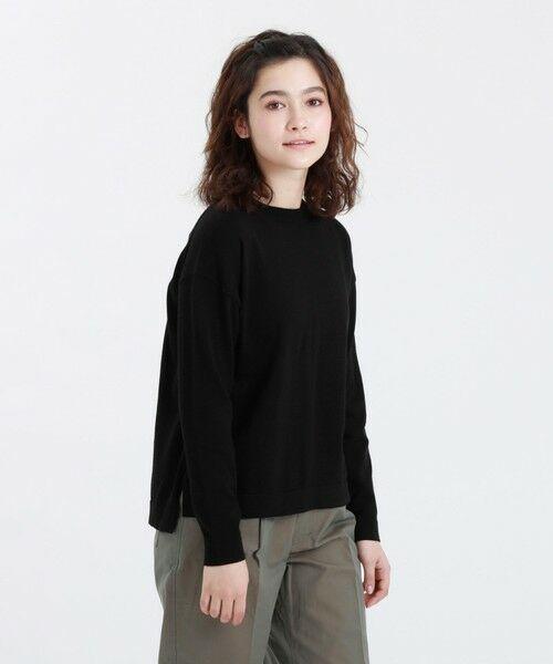MACKINTOSH PHILOSOPHY / マッキントッシュ フィロソフィー ニット・セーター | ◆◆GREY LABEL コットンニットTシャツ(ブラック1)