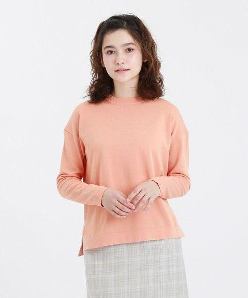 MACKINTOSH PHILOSOPHY / マッキントッシュ フィロソフィー ニット・セーター | ◆◆GREY LABEL コットンニットTシャツ(オレンジ1)