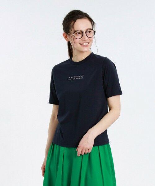 MACKINTOSH PHILOSOPHY / マッキントッシュ フィロソフィー カットソー | 【WEB限定】ロゴTシャツ(ネイビー3)