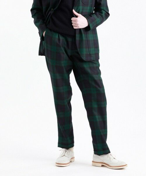 MACKINTOSH PHILOSOPHY(MENS) / マッキントッシュ フィロソフィー メンズ その他パンツ | MOON TWEED ERASTIC 1TUCK PANTS(ネイビー3)