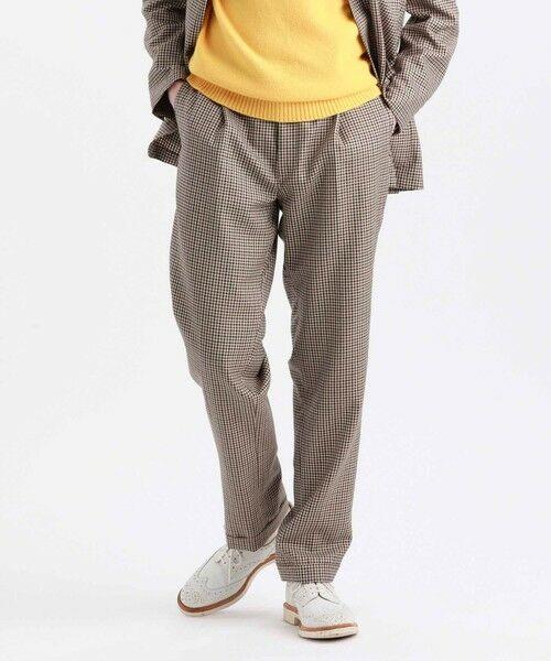MACKINTOSH PHILOSOPHY(MENS) / マッキントッシュ フィロソフィー メンズ その他パンツ | MOON TWEED ERASTIC 1TUCK PANTS(ベージュ6)
