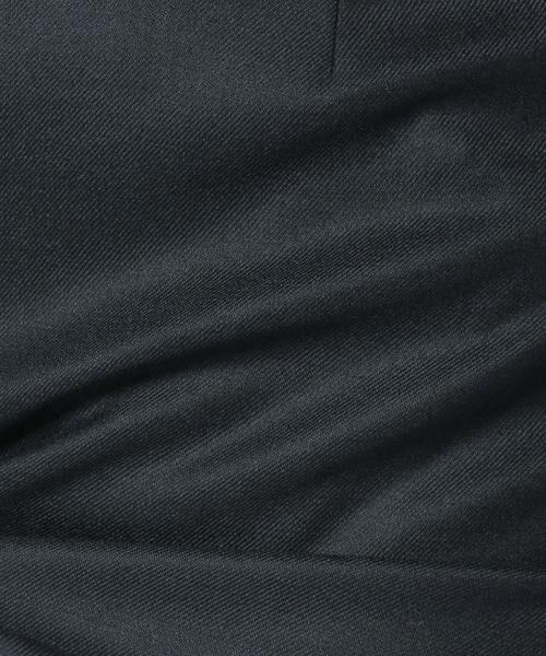 MADAM JOCONDE / マダムジョコンダ ミニ・ひざ丈スカート | イレギュラーヘム切替スカート/サキソニーストレッチ | 詳細5