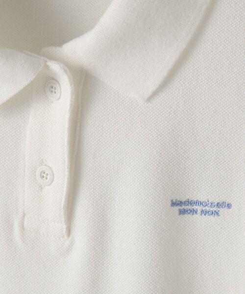 Mademoiselle NONNON / マドモアゼルノンノン ポロシャツ | コットンポロシャツ | 詳細1