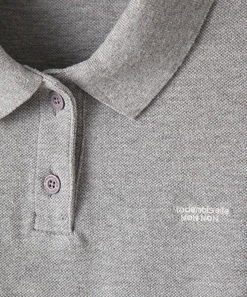 Mademoiselle NONNON / マドモアゼルノンノン ポロシャツ | コットンポロシャツ | 詳細2