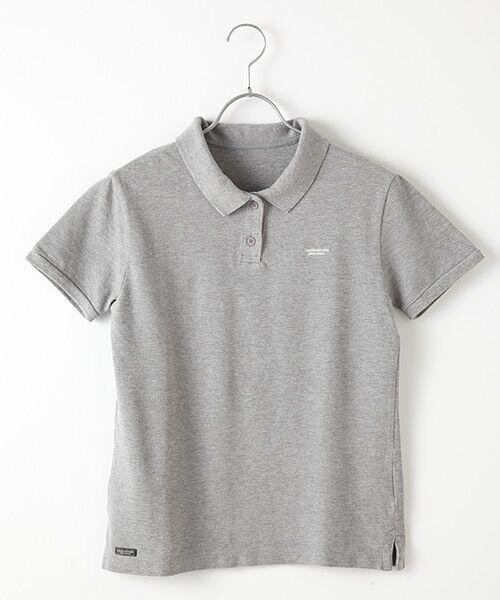 Mademoiselle NONNON / マドモアゼルノンノン ポロシャツ | コットンポロシャツ(TOPグレー)