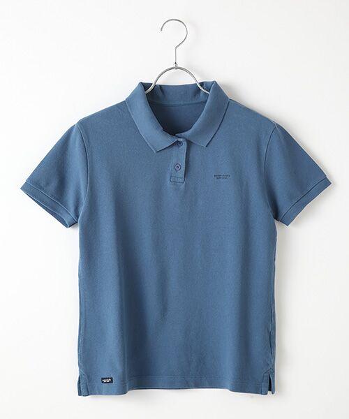 Mademoiselle NONNON / マドモアゼルノンノン ポロシャツ | コットンポロシャツ(スモークブルー)