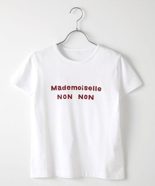 Mademoiselle NONNON / マドモアゼルノンノン Tシャツ | 定番天竺Tシャツ(シロ×アカ)