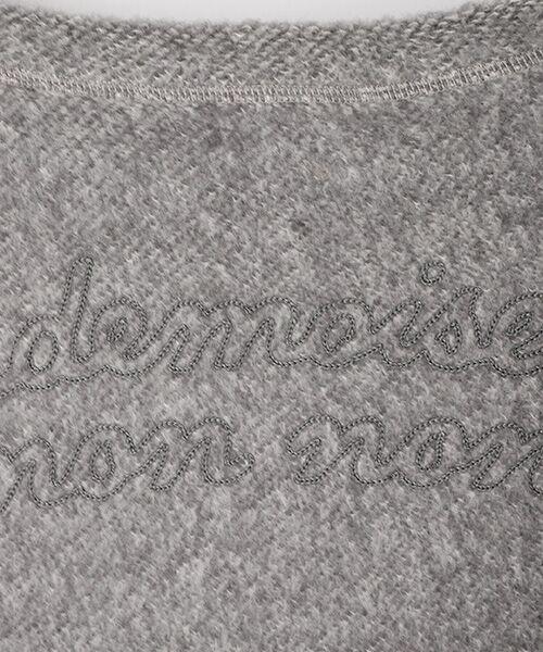 Mademoiselle NONNON / マドモアゼルノンノン スウェット | ブークレー裏毛トレーナー【ドロップショルダー/長袖】 | 詳細4