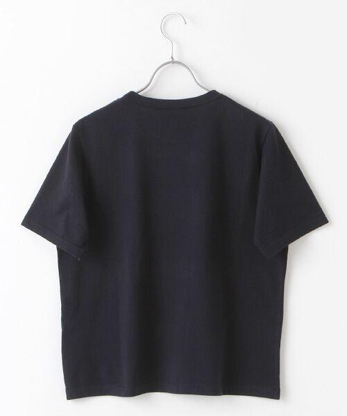 Mademoiselle NONNON / マドモアゼルノンノン Tシャツ | 甘撚天竺コード刺繍Tシャツ[ロゴ&四つ葉のクローバー刺繍 半袖] | 詳細1