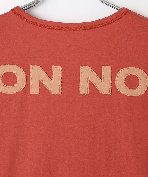 Mademoiselle NONNON / マドモアゼルノンノン Tシャツ   SILKY SKIN TOUCH天竺 ブランドロゴ刺繍入りTシャツ[クルーネック・半袖]   詳細3