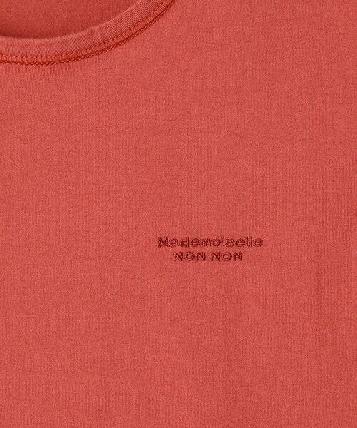 Mademoiselle NONNON / マドモアゼルノンノン Tシャツ   SILKY SKIN TOUCH天竺 ブランドロゴ刺繍入りTシャツ[クルーネック・半袖]   詳細4