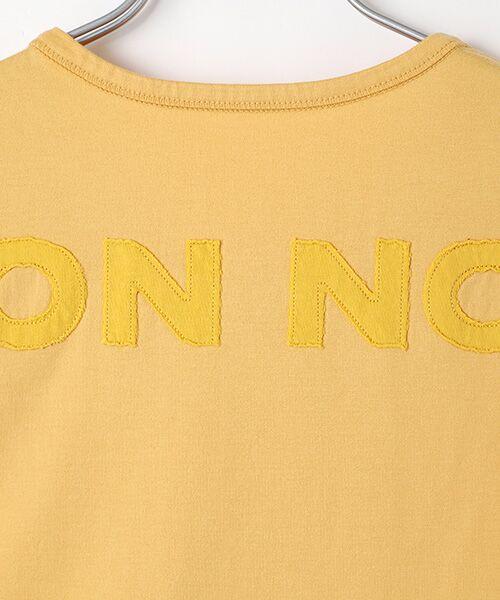 Mademoiselle NONNON / マドモアゼルノンノン Tシャツ   SILKY SKIN TOUCH天竺 ブランドロゴ刺繍入りTシャツ[クルーネック・半袖]   詳細5