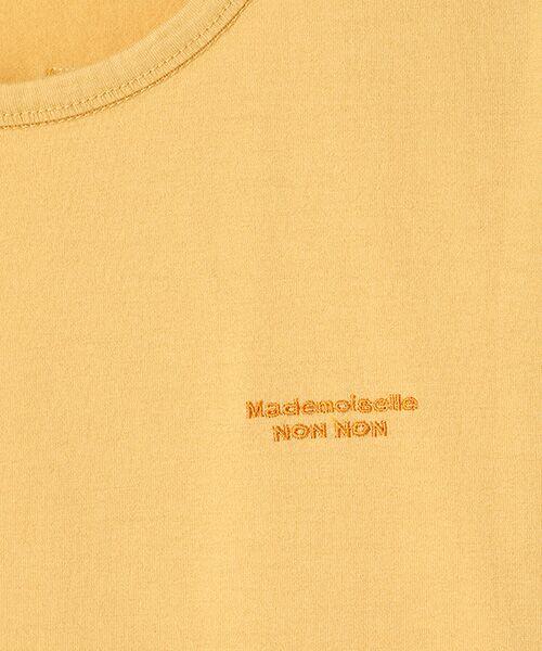 Mademoiselle NONNON / マドモアゼルノンノン Tシャツ   SILKY SKIN TOUCH天竺 ブランドロゴ刺繍入りTシャツ[クルーネック・半袖]   詳細6
