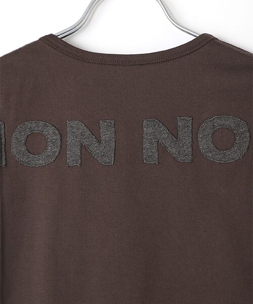 Mademoiselle NONNON / マドモアゼルノンノン Tシャツ   SILKY SKIN TOUCH天竺 ブランドロゴ刺繍入りTシャツ[クルーネック・半袖]   詳細7