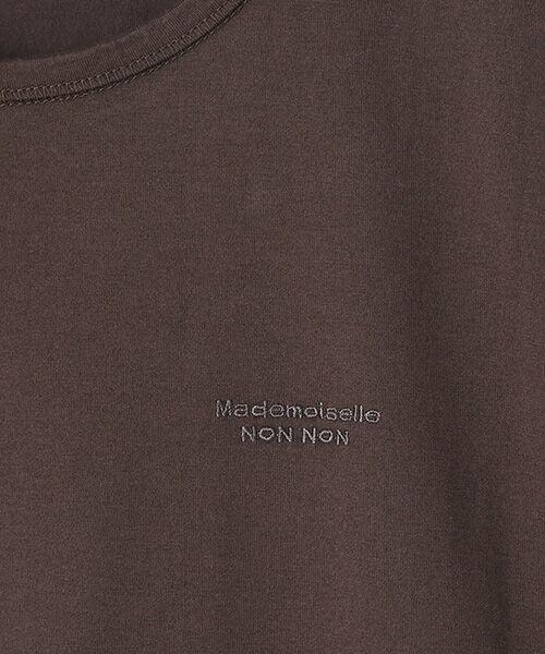 Mademoiselle NONNON / マドモアゼルノンノン Tシャツ   SILKY SKIN TOUCH天竺 ブランドロゴ刺繍入りTシャツ[クルーネック・半袖]   詳細8