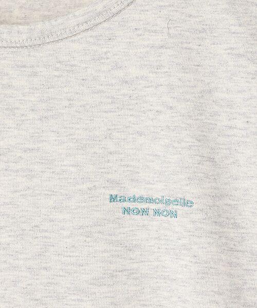 Mademoiselle NONNON / マドモアゼルノンノン Tシャツ   SILKY SKIN TOUCH天竺 ブランドロゴ刺繍入りTシャツ[クルーネック・半袖]   詳細10