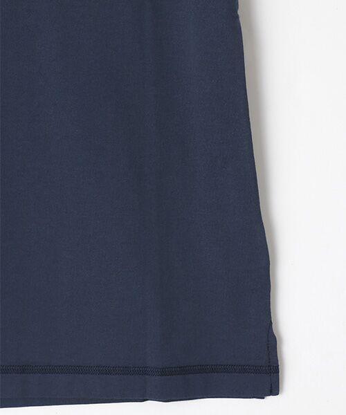 Mademoiselle NONNON / マドモアゼルノンノン Tシャツ   SILKY SKIN TOUCH天竺 ブランドロゴ刺繍入りTシャツ[クルーネック・半袖]   詳細13