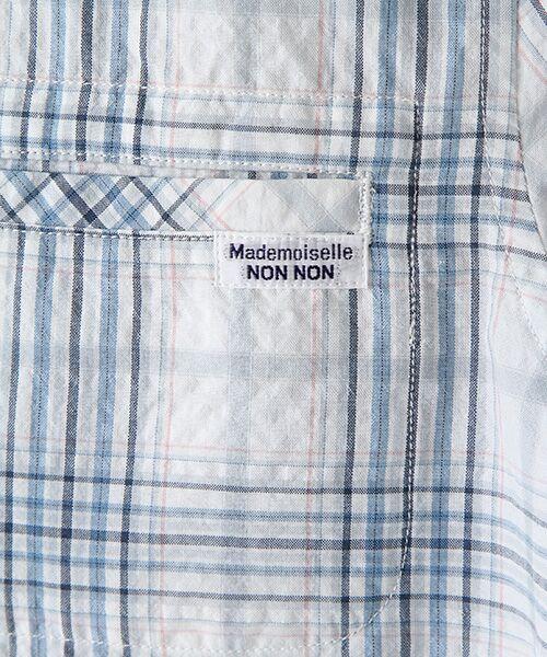 Mademoiselle NONNON / マドモアゼルノンノン シャツ・ブラウス | ナチュラルサッカーチェック柄 両胸ポケット付きシャツ[シャツカラー・半袖] | 詳細4