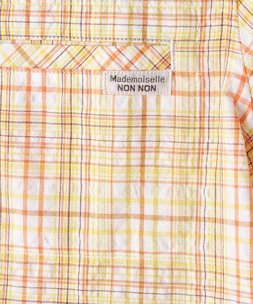 Mademoiselle NONNON / マドモアゼルノンノン シャツ・ブラウス | ナチュラルサッカーチェック柄 両胸ポケット付きシャツ[シャツカラー・半袖] | 詳細6
