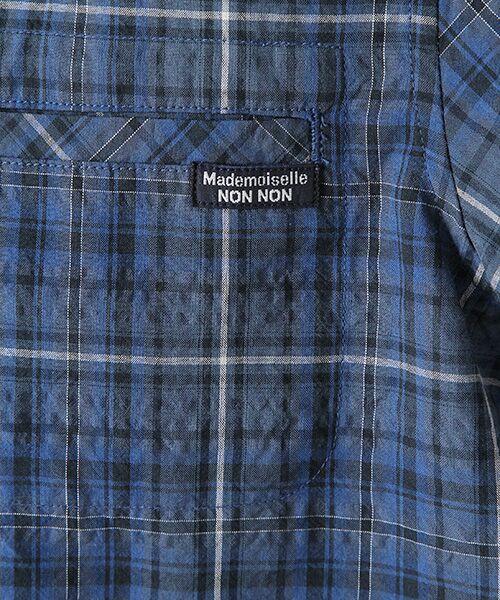 Mademoiselle NONNON / マドモアゼルノンノン シャツ・ブラウス | ナチュラルサッカーチェック柄 両胸ポケット付きシャツ[シャツカラー・半袖] | 詳細8