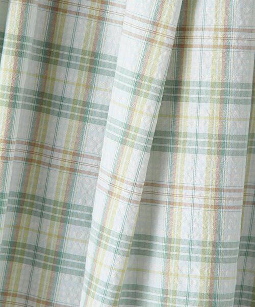 Mademoiselle NONNON / マドモアゼルノンノン ロング・マキシ丈スカート | ナチュラルサッカーチェック柄 ロングタックスカート[裏地無し・ウエストゴム・共紐入り] | 詳細6