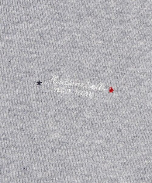 Mademoiselle NONNON / マドモアゼルノンノン Tシャツ   スーピマコットンフライス 刺繍入りTシャツ   詳細1