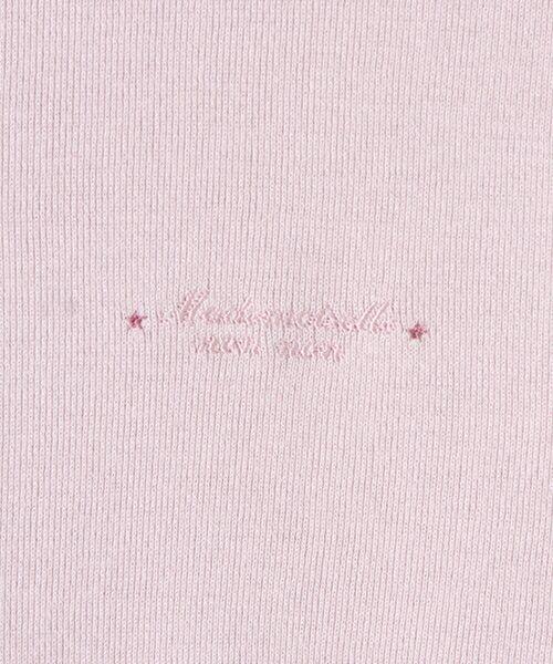 Mademoiselle NONNON / マドモアゼルノンノン Tシャツ   スーピマコットンフライス 刺繍入りTシャツ   詳細3