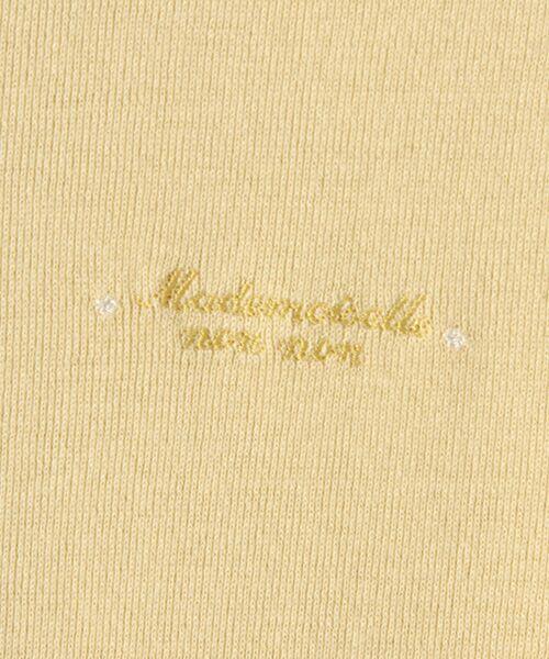 Mademoiselle NONNON / マドモアゼルノンノン Tシャツ   スーピマコットンフライス 刺繍入りTシャツ   詳細4