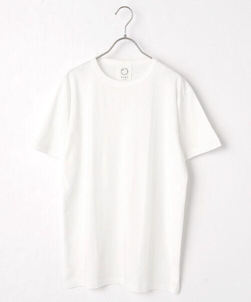 maison de F / メゾンドエフ Tシャツ | 【ガイアの夜明けでご紹介】クルーネックTシャツ(ホワイト)