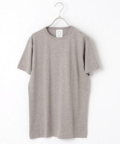 maison de F / メゾンドエフ Tシャツ | 【ガイアの夜明けでご紹介】クルーネックTシャツ(グレー)